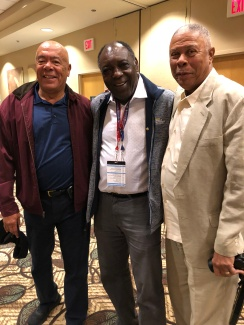 Black Caucus member former NBA official Louis Grillo, Former NCAA D-1 Official Leroy Hendricks and Former NCAA D-! and current Coordinator of Men's basketball officials for the Ivy and the Patriot League, Reggie Greenwood
