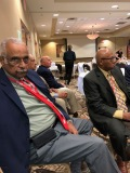 PAST IAABO PRESIDENT (2000-01), DR. KEN WALKER (BD 84) HONORARY BLACK CAAUCUS MEMBER (FORMER PRESIDENT OFR IAABO TOM REESE, PRESIDENT WILLIE LA BROWN